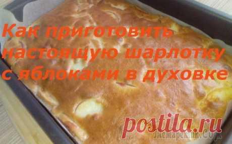 Как приготовить шарлотку с яблоками в духовке. Как приготовить вкусную шарлотку с яблоками в духовке.КАК ДЕЛАТЬ:1. 800 грамм яблок, нарезать дольками, удалить сердцевинки, присыпать сахаром и корицей.2. Приготовить тесто : 3 яйца взбить в пышную п...