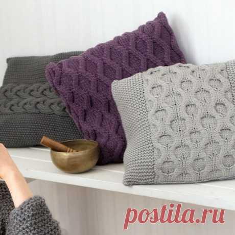 Красивые чехлы для уютных подушек из категории Интересные идеи – Вязаные идеи, идеи для вязания