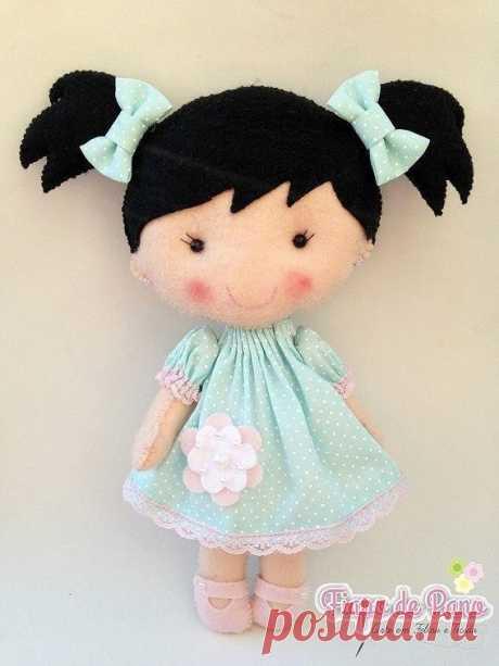 Куколки из фетра - выкройка #рукоделие #ПоделкиИзФетра #кукла