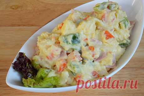 Салат картофельный с ветчиной в стиле японской кухни — Готовим по-домашнему