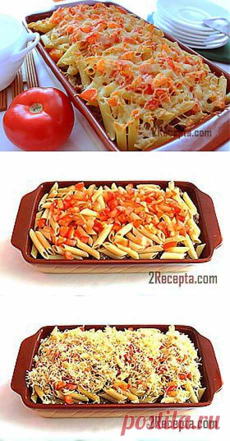 Recipe: Macaroni casserole with forcemeat and cheese - step-by-step a photo the recipe of preparation