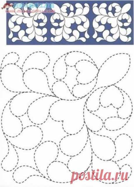 Пэчворк - схемы для стежки / Пэчворк, лоскутное шитье, квилтинг для начинающих - техника, мастер класс, фото, схемы / КлуКлу. Рукоделие - бисероплетение, квиллинг, вышивка крестом, вязание