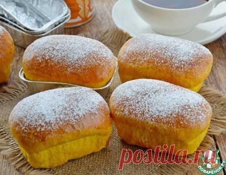 Тыквенные булочки с вареной сгущенкой – кулинарный рецепт