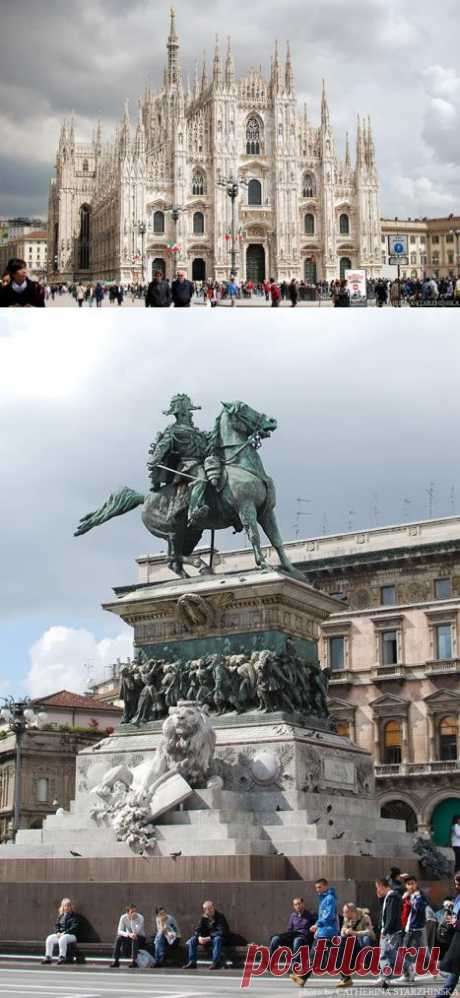 awful_mouse: Милан. Piazza del Duomo, Галерея Виктора Эммануила II