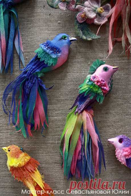 Птички из ткани с выкройками (6 мастер-классов)   Рукоделие