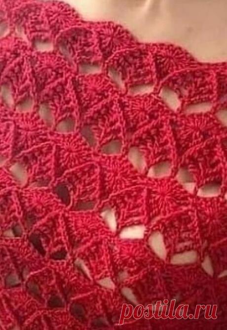 Маленькое красное платье, связанное крючком | ВЯЗАНИЕ СПИЦАМИ И КРЮЧКОМ | Яндекс Дзен
