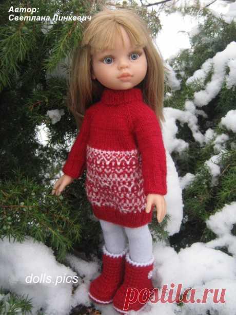 La túnica invernal para las muñecas «Friends» Paola Reina 32-33 cm | las Muñecas y el osito