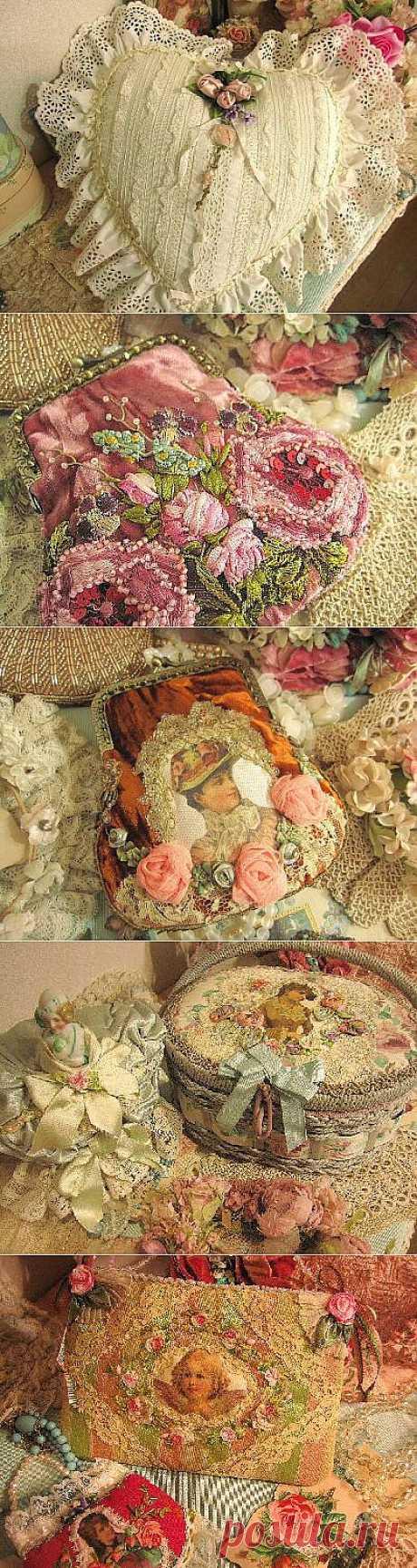 Винтажные кружева от японской мастерицы Pastel.