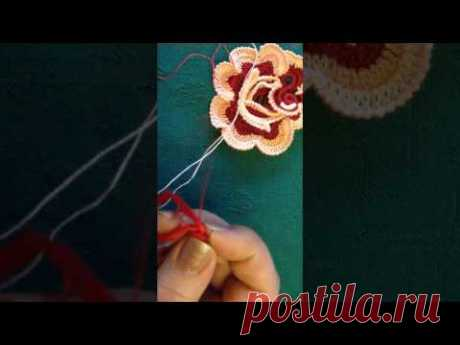 VIDEO Nz15\/1 CROCHET IRLANDES CENTRO DE ROSA