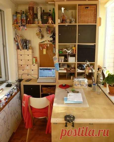 Швейное рабочее место на балконе   Наши дома
