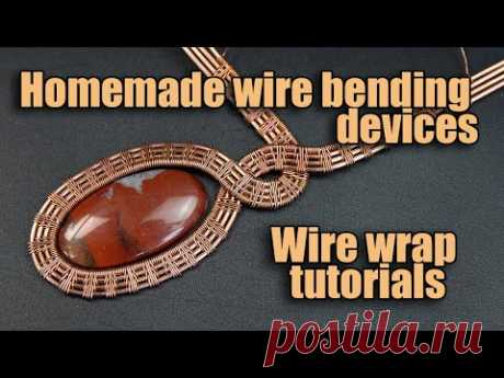 Homemade wire bending devices. Handmade wire jewelry - wire wrap tutorials.