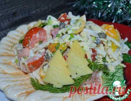 """Салат """"Кальмары с овощами"""" – кулинарный рецепт"""
