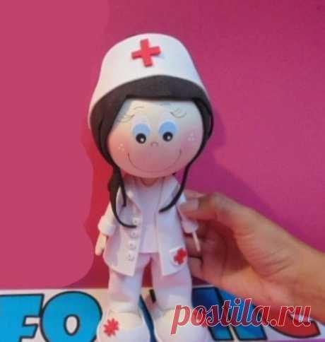 Доктор МК . Шаблон под видео в формате pdf.  #кукла#фоамиран#мастер_класс#видео