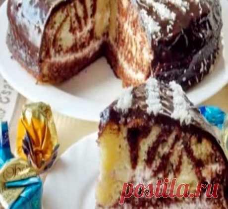 Как приготовить торт зебра - пошаговый рецепт с фотографиями