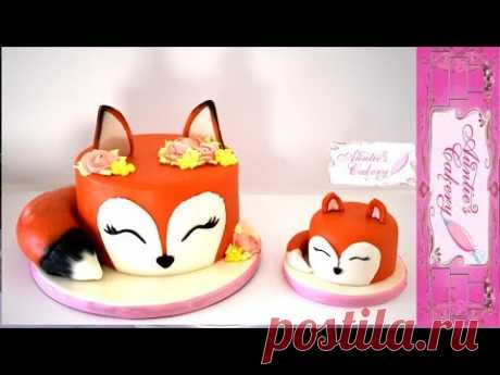 Mommy Fox and her Kit Smash Cakes