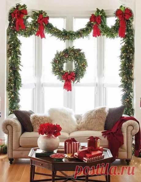 Украшения на окна к Новому году: 13 идей для праздничного настроения - Квартира, дом, дача - медиаплатформа МирТесен