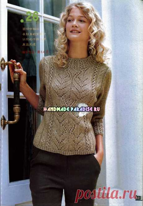Зимнее вязание спицами для женщин. Журнал со схемами - Handmade-Paradise
