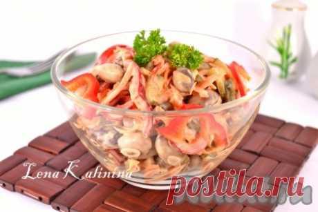 Салат с болгарским перцем и фасолью
