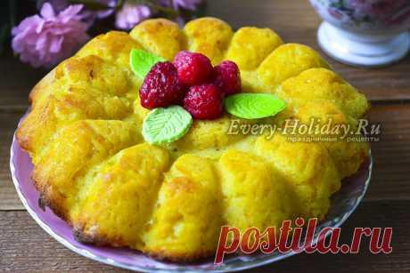 Тыквенный пирог без масла, муки и яиц