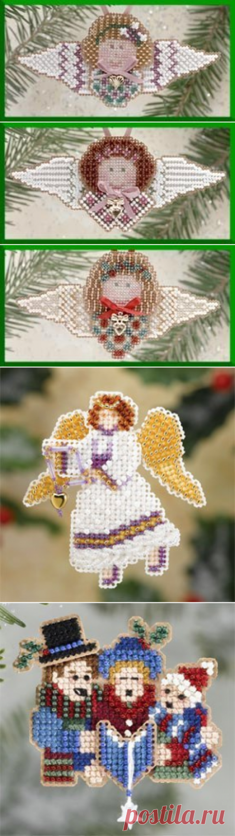 Mill Hill Christmas Angel 2004 - Beaded Cross Stitch Kit - 123Stitch.com