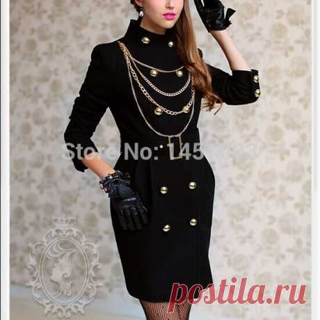 coat army Picture - More Detailed Picture about DABUWAWA Authentic New 2014 Brand Autumn and Winter Wool Black Double Breasted Slim Long Women's Coats Wholesale Picture in Wool & Blends from PINK DOLL Trade Co.,Ltd | Aliexpress.com | Alibaba Group