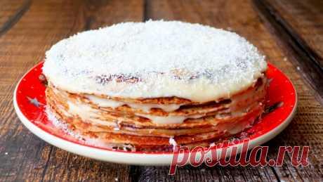 Блинный торт медовик на сковороде — Кулинарная книга - рецепты с фото