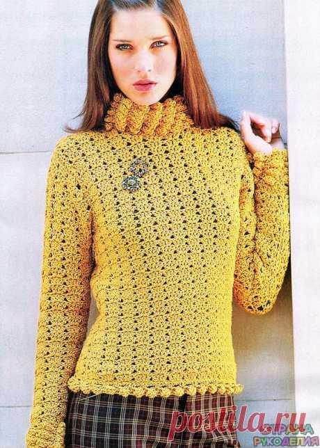 Пуловер крючком - Жакет.Пуловеры.Свитер - Страна рукоделия