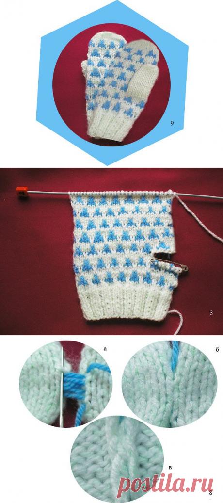 Вяжем рукавички двумя спицами (Уроки и МК по ВЯЗАНИЮ) | Журнал Вдохновение Рукодельницы
