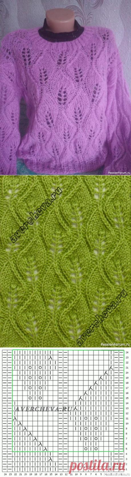Мохеровый свитер   Вязание для женщин спицами. Схемы вязания спицами