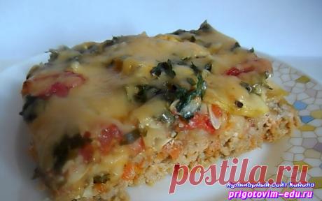 Мясная запеканка из фарша с кабачками и помидорами | Простые пошаговые фото рецепты | Яндекс Дзен