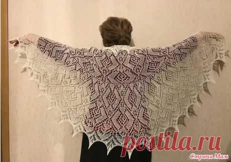 Белая шаль-накидка - Вязание - Страна Мам