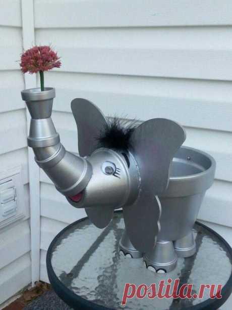 From flowerpots