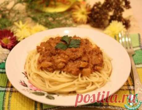 """Соус """"Болоньез"""" по-новому с макаронами – кулинарный рецепт"""