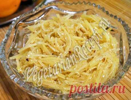 Салат: Картофель по-корейски - рецепт с фото | Вегетарианские рецепты «Приготовим с любовью!»