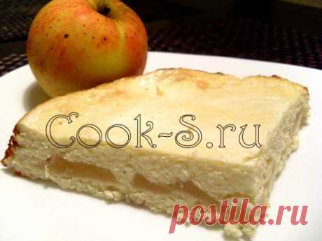 Творожная запеканка с яблоками - Пошаговый рецепт с фото | Десерты