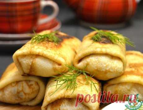 Фаршированные блинчики на бульоне – кулинарный рецепт