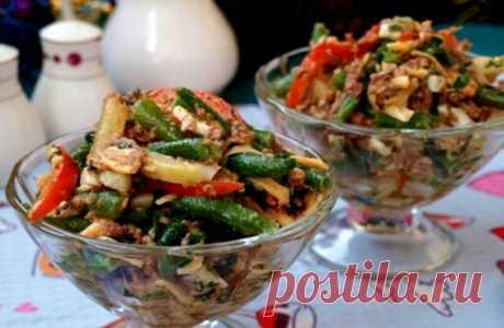 """Аппетитный салат со стручковой фасолью """"Париж"""": пошаговый рецепт приготовления"""