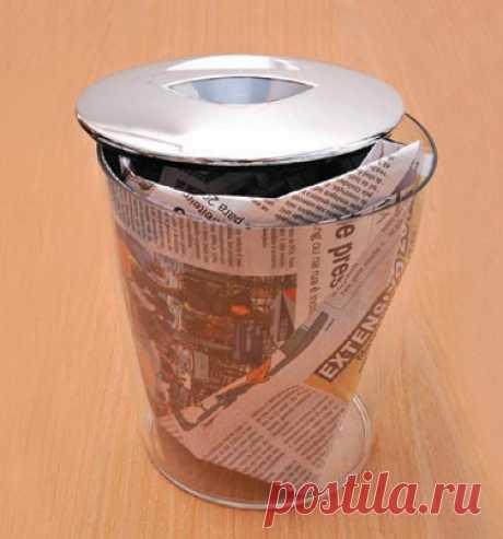 Como hacer el paquete para el cubo de basura y el bolso de los periódicos. La Clase maestra
