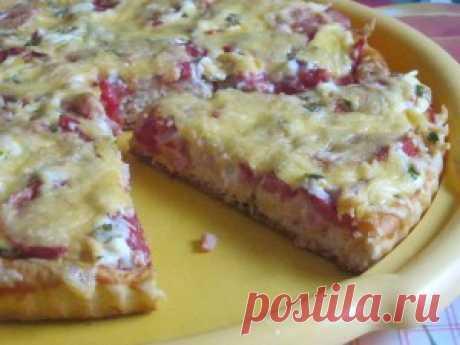 Пицца с ветчиной и помидорами,блюдо,рецепт | Готовим вкусно и по-домашнему