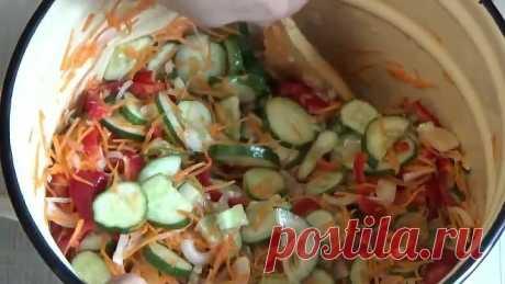 Салат на зиму из последних огурцов