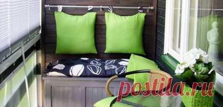 Даже маленькая лоджия — это комната! 30 дизайнерских идей - Postel-Deluxe.ru