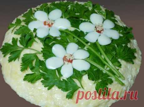 """Удивительно вкусный салат с корейской морковью и грибами """"Три цветка"""" Рекомендую!"""