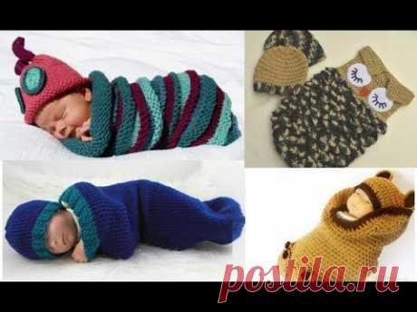 Идеи для подарков молодым мамочкам и их малюткам. Всевозможные вязаные спальники и мешки-коконы.