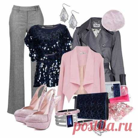 Combinations gray and pink.