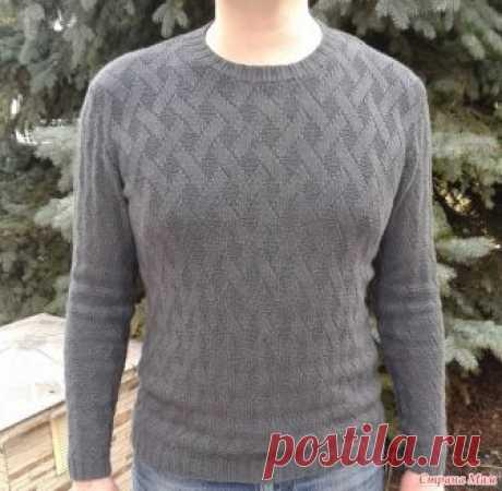 """Мужской свитер """"теневым"""" узором Доброго времени суток, страномамочки! Приступаем к вязанию свитера-пуловера-джемпера для любимых мужчин. модель очень универсальная - подойдет и тинейджерам, и взролым."""