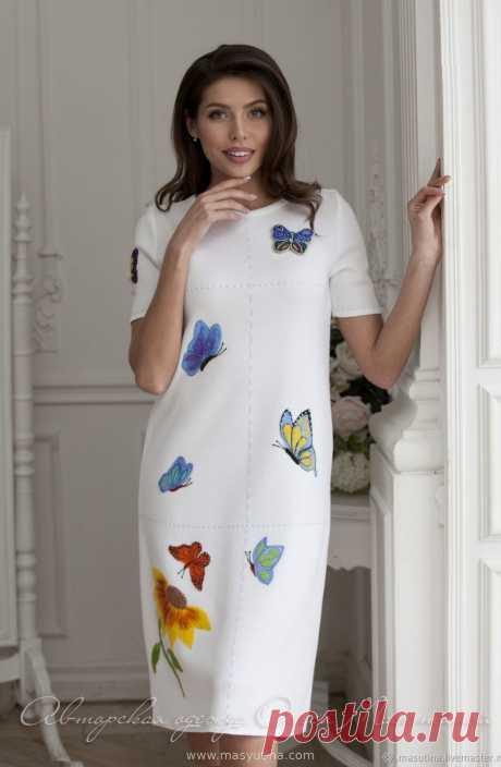 """Платье """"Яркие бабочки"""" в интернет-бутике www.masyutina.com"""