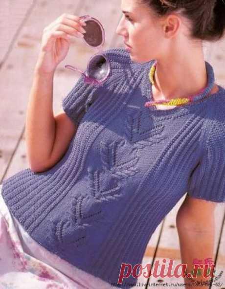 Топ резинкой спицами - фото и схема | Ажурные Узоры
