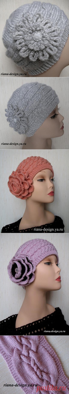 Вязаные шапочки и шляпки в винтажном стиле от riana-design
