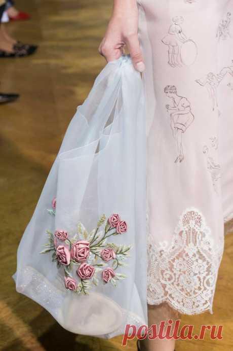 Шелковая авоська с вышивкой Модная одежда и дизайн интерьера своими руками