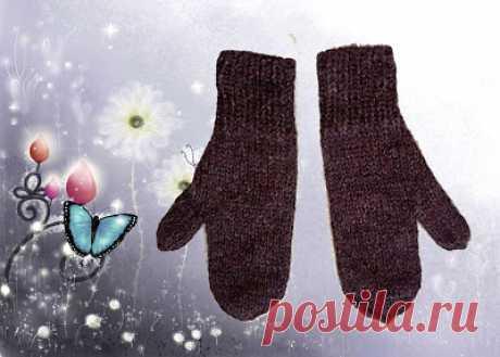 Вяжем вместе: Ленивые рукавички
